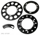 Sprocket-Quickchange 70T Kartech Black Anodised